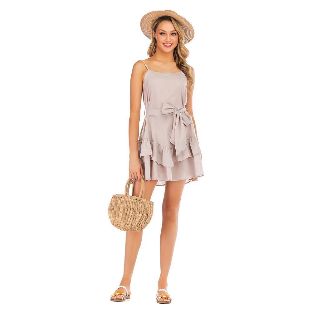 MIXINNI 2020 Europa y los Estados Unidos moda Condole cinturón Sexy Vestido de playa o vacaciones 1911