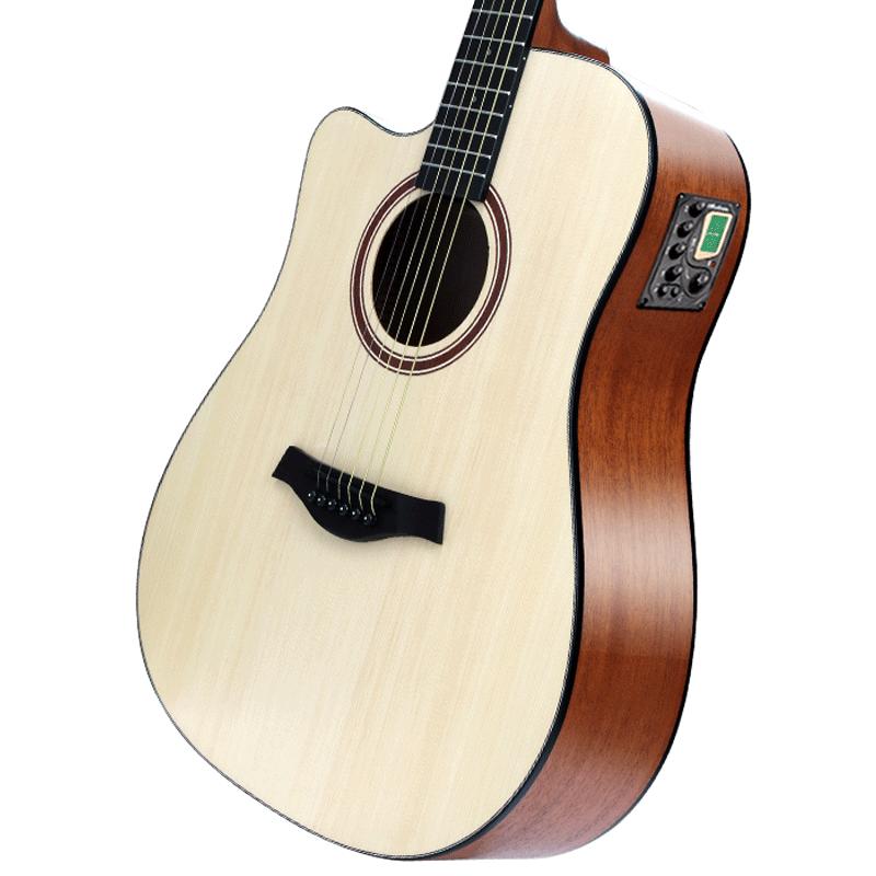 Accoustic White Guitar Body Left Handed Basswood Picea Asperata Guitar Neck 20 Fret Chitarra Classica Entertainment EH50G enlarge