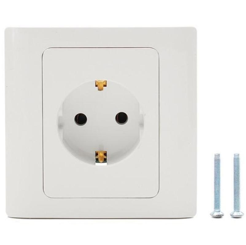 86*86mm EU European New EU Standard Power Socket Panel Triple Wall Power Outlet  250V 16A Outlet Germany Schuko Plug Adapter