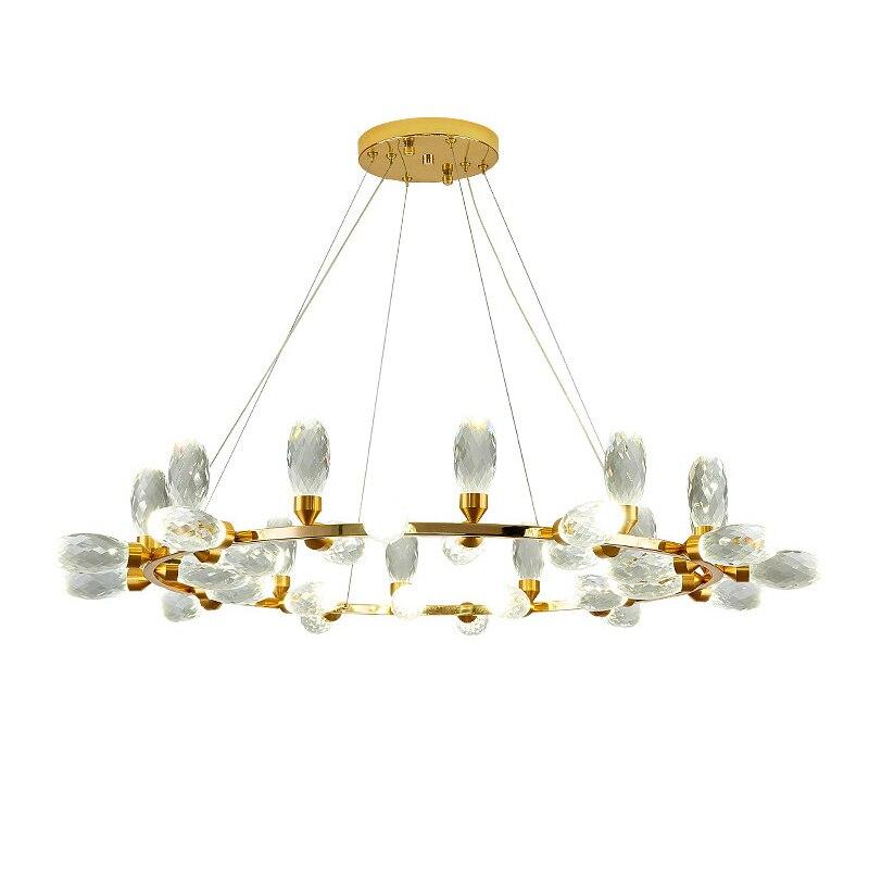 Luci Di Cristallo Led Lampadari Moderni D Oro Per La Decorazione Soggiorno Lustro Di Lusso Coperta Sala Da Pranzo Camera Da Letto Luci Di Soffitto