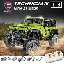 J902 Remote Control Jeeped Wrangler Car Fit Technic Adventurer Building Blocks Bricks Set Kid Boy Toy Educational Gifts
