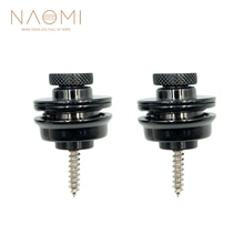 Naomi 2 Stuks Gitaar/Bas Strap Lock Strap Lock Straplock Knop Zwarte Gitaar Onderdelen Accessoires