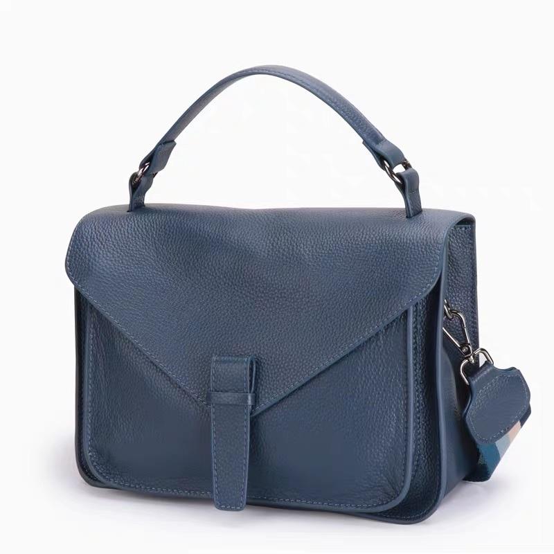 جلد طبيعي فاخر المرأة حقيبة 2021 العلامة التجارية مصمم الإناث حقيبة كتف سيدة حقيبة يد جلدية الصلبة حقيبة يد نسائية عادية