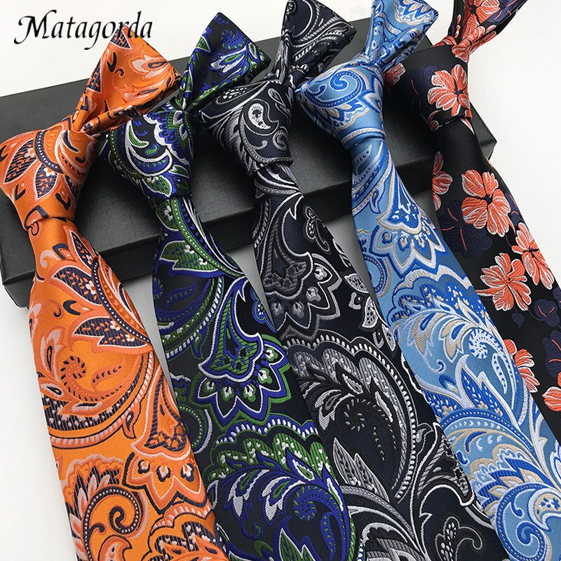 Fashionable Men's Neckwear Silk Brocade Paisley Necktie Big Flower Design Wedding Party Neckties Male Tie Gravata Neckerchief недорого