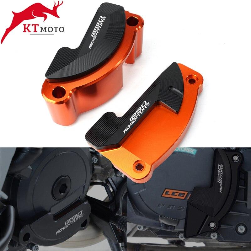 ل KTM 1290 سوبر مغامرة 1190 1090 مغامرة 2013-2019 عالية الجودة اليسار واليمين محرك الحرس حالة المنزلق غطاء حامي