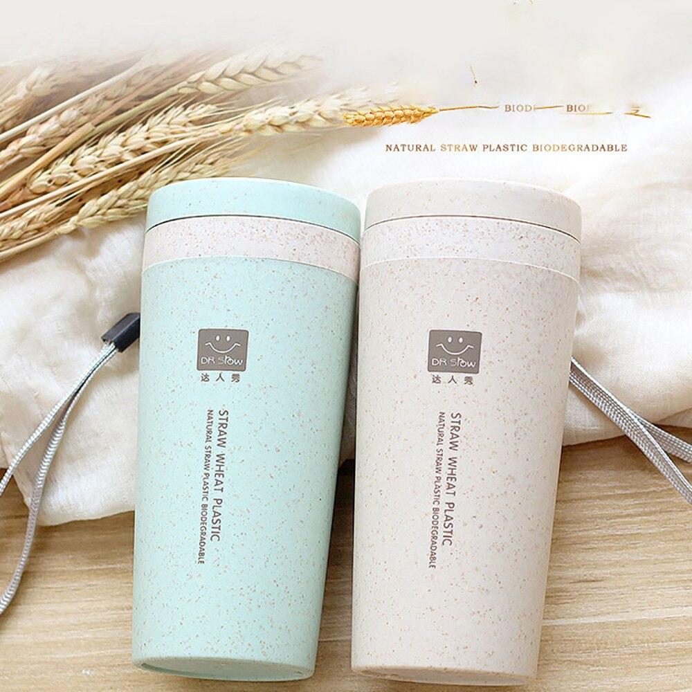 Термос чашка кухня Пшеничная солома с двойной изоляцией нержавеющая сталь термос стакан чашки вакуумная колба термо бутылка для воды подарок