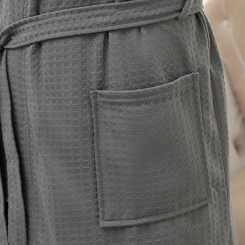 Любители Лето Вода Поглощение Мода Полотенце Ванна Халат Мужчины Сексуальное Кимоно Вафли Халат Мужские Плюс Размер Халат Халат Мужской Халаты