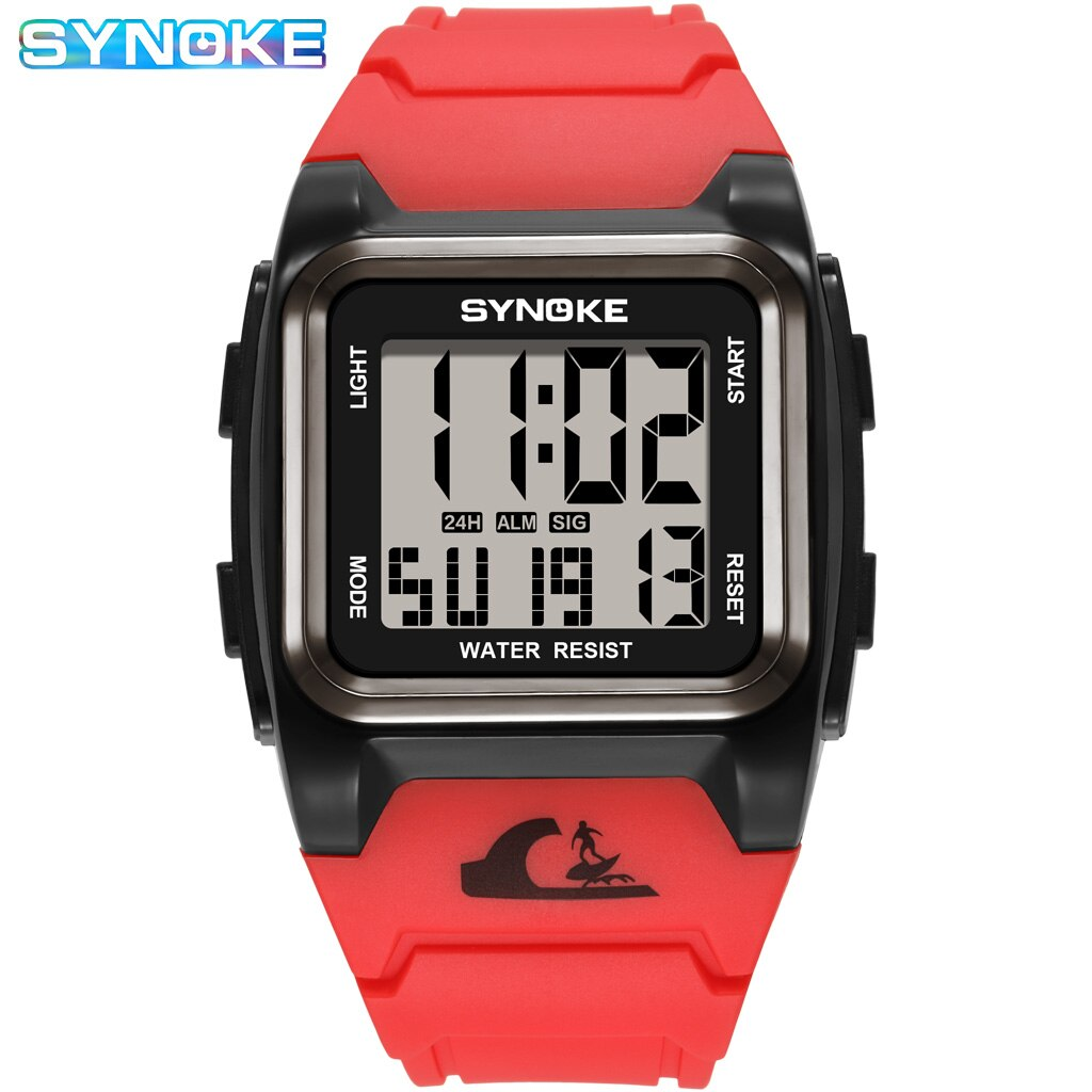 Фото - Luxury Men Digital Watches Waterproof Sport Watch For Men Clock Red Retro Rectangle Military Wristwatches Man Relogio Masculino 2021 new sport travel lover watches carnival red digital clock gift for men waterproof electronics offers with free shipping
