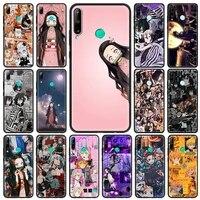 kamado nezuko kimetsu demon slaye mobile phone case for huawei y6 y7 y9 2019 y6p y8p y8s y9a mate 20 40 pro 10 lite cover shell