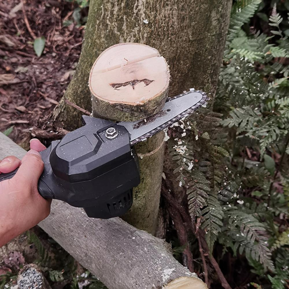4 Inch Lithium Battery 24V Portable Electric Pruning Saw Rechargeable Small Electric Saw Woodwork Mini Electric Saw Garden Logg enlarge