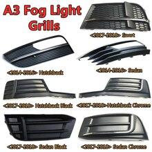 ABS antibrouillard grille antibrouillard grilles pour audi A3 S3 2014 2015 2016 2017 2018 avant pare-chocs antibrouillard Lowside couverture 8R0807681N 682N