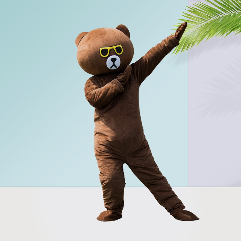 Web celebrity bear doll costume for adult brown bear dollweb celebritytume BBB1 bear doll costume for joined brown bear koni недорого