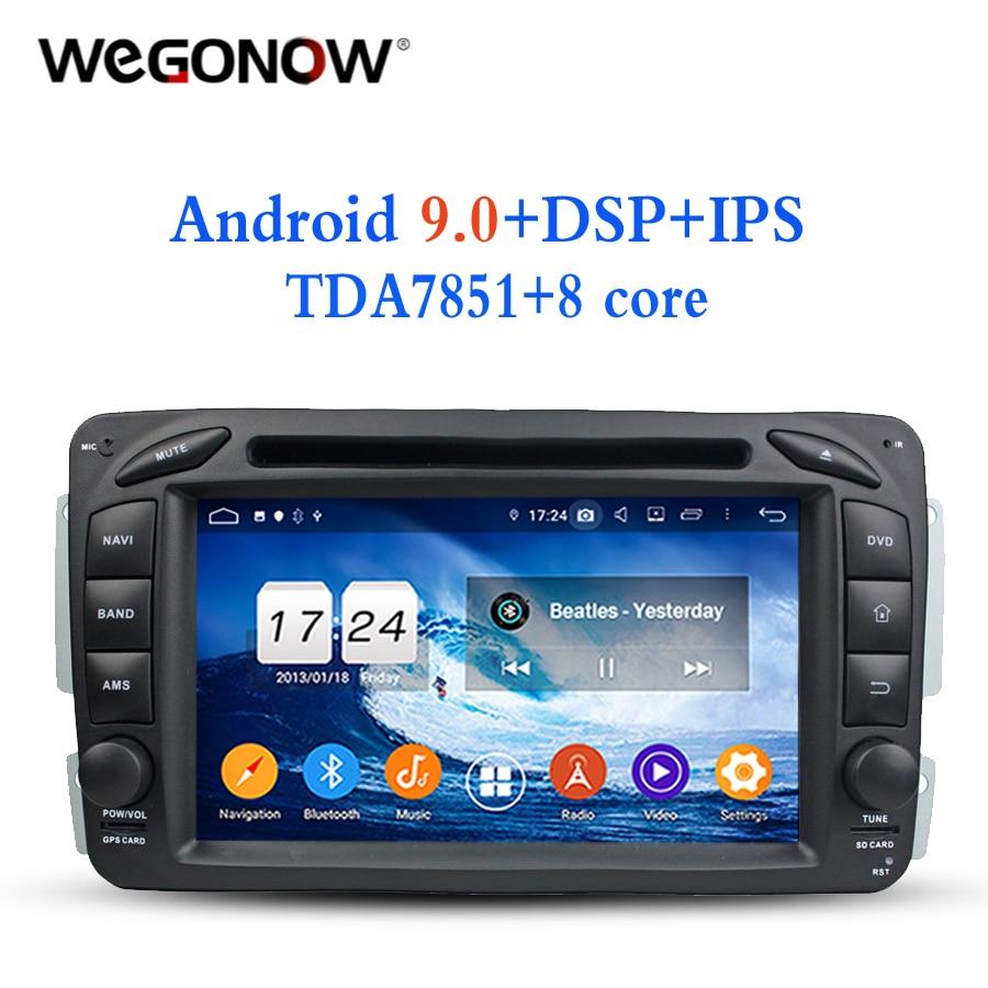 Android 9,0 para Benz W163 W209 W203 W170 W210 W168 1998-2005 4 GB RAM 8 Core DVD del coche player Wifi Bluetooth 4,2 RDS RADIO GPS mapa