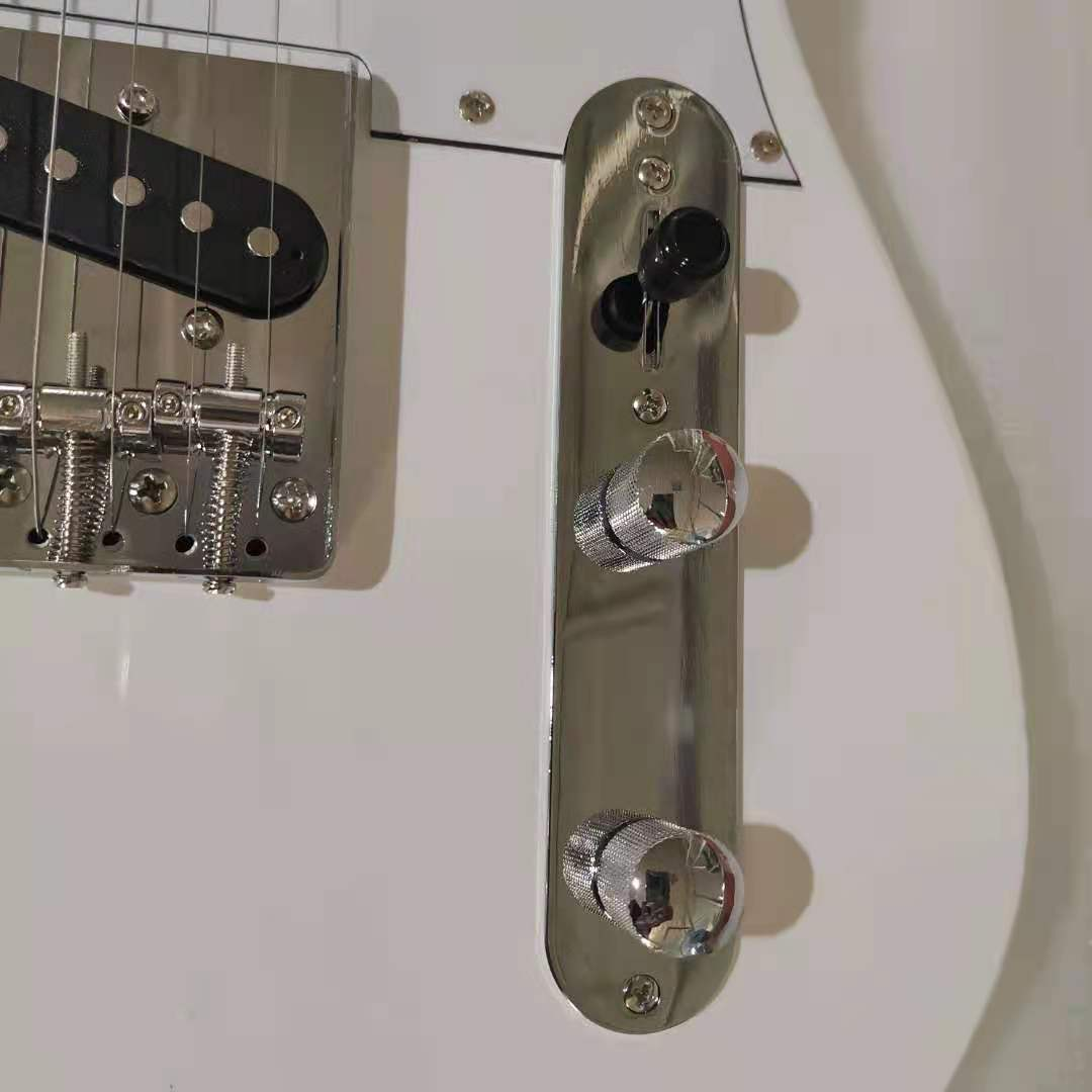 Tele Electric Guitar White Color Basswood Guitar Body Maple Fingerboard Silver Hardware High Quality Free Shipping enlarge