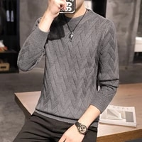 2020 autumn casual mens sweater o neck striped slim fit knittwear mens sweaters pullovers pullover men
