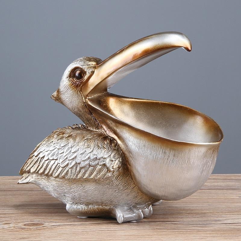 Статуэтка для хранения ключей ERMAKOVA Toucan статуя Пеликан корзина для хранения животные птица скульптура домашний Декор украшение подарок