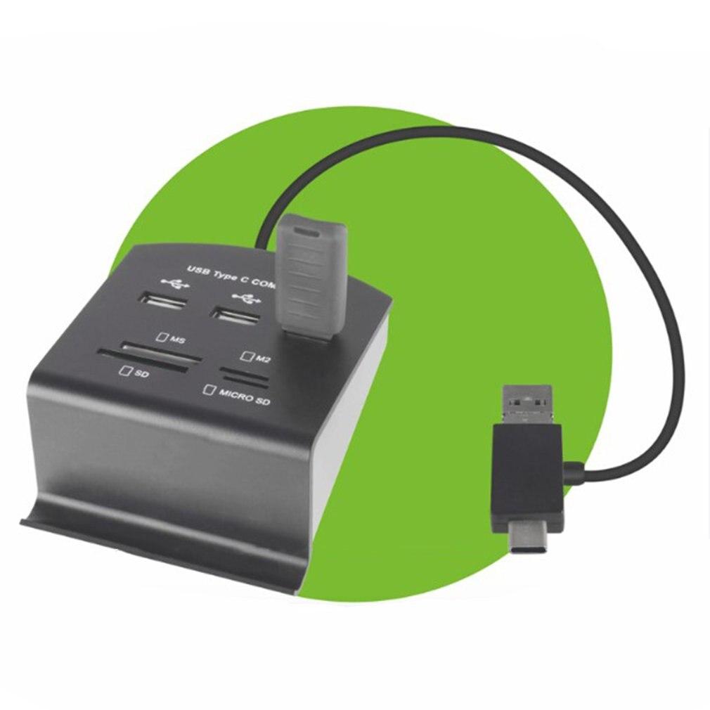 Portátil 7 puertos 3 en 1 tipo-c USB 2,0 COMBO de alta velocidad Hub Cable adaptador de corriente para PC portátil HUB de carga