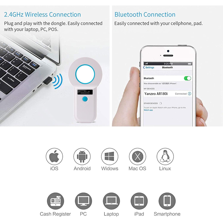 ISENVO AR180I 134.2Khz Bluetooth Animal Microchip Reader Dog chip Reader Pet Chip RFID Handheld Scanner Animal Tag Card Reader enlarge