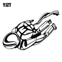 YJZT 18.1CM*12.7CM Skydiving Sticker Parachute Decoration Car Sticker Car Trunk Vinyl Decal Black/Silver C31-0519