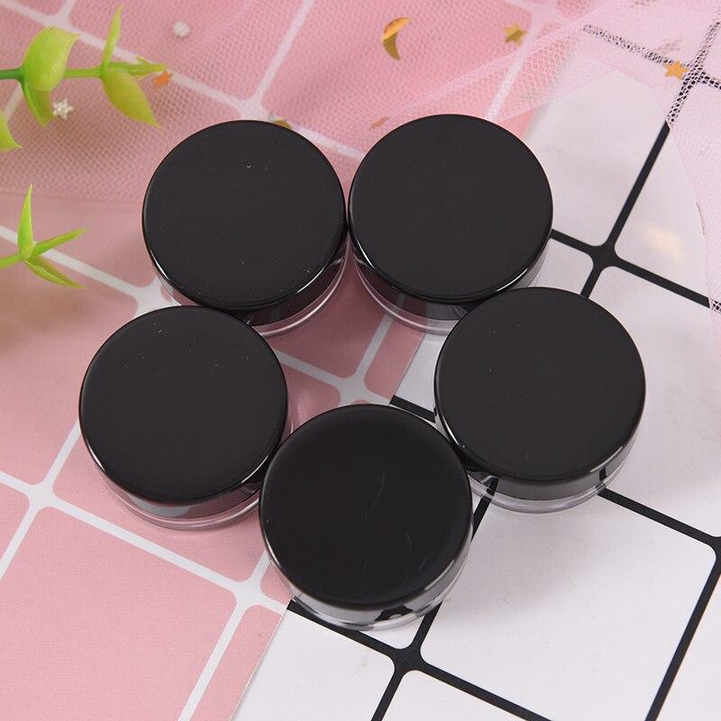 5pcs Empty Cosmetic Refillable Bottles Small Plastic Eyeshadow Makeup Face Cream Jar Pot Container Bottle 5g недорого