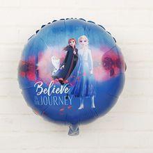 Disney Frozen Thema 18 Inch Baby Shower Partij Aluminium Folie Ballonnen Decoratie Ballonnen Draaien Ballon Kids Verjaardagslevering
