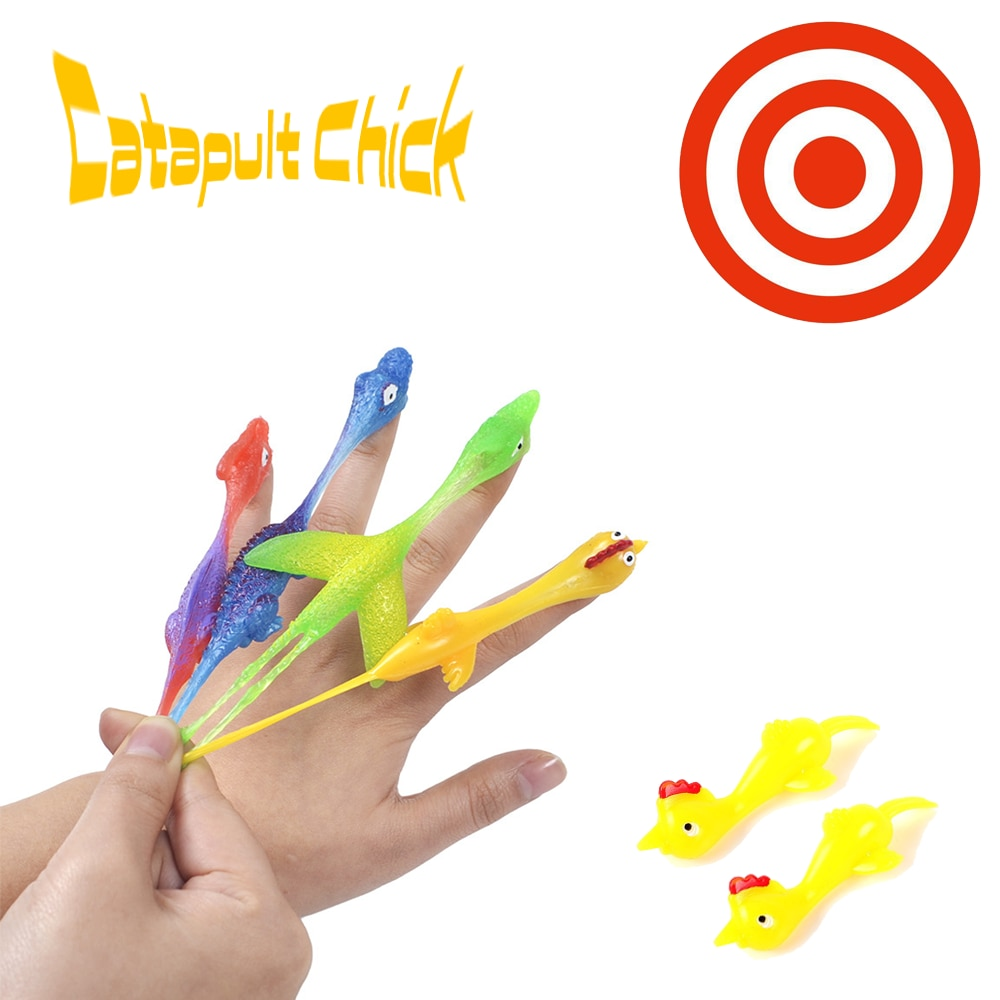 Catapult Launch Turkey Fun and Tricky Slingshot Chick Practice Chicken Elastic Flying Finger Birds Sticky Toys Decompression New
