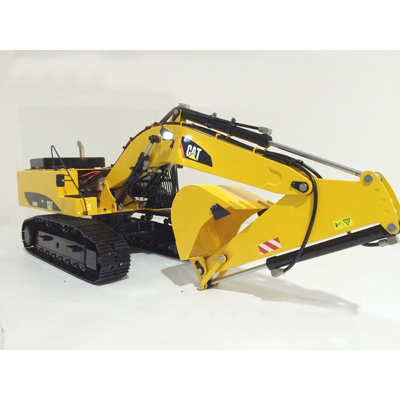 2019 new improved 1 / 12 remote hydraulic excavator model children's birthday gift