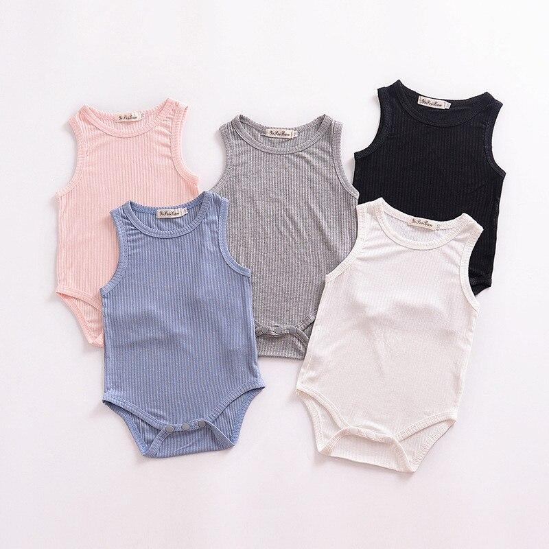 Bebé recién nacido Niño mono de verano camiseta sin mangas para niñas bebés ropa Casual de bebé de los gemelos ropa atuendos para escalar 2020