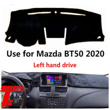 Taijs left hand drive car dashboard cover for Maz da BT50 2020 new design mat model hot selling good quality dash board