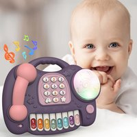 Bright Color Electronic Toy Phone Kid Mobile Phone Cellphone Telephone Educational Learning Toys Music Baby Infant Gift