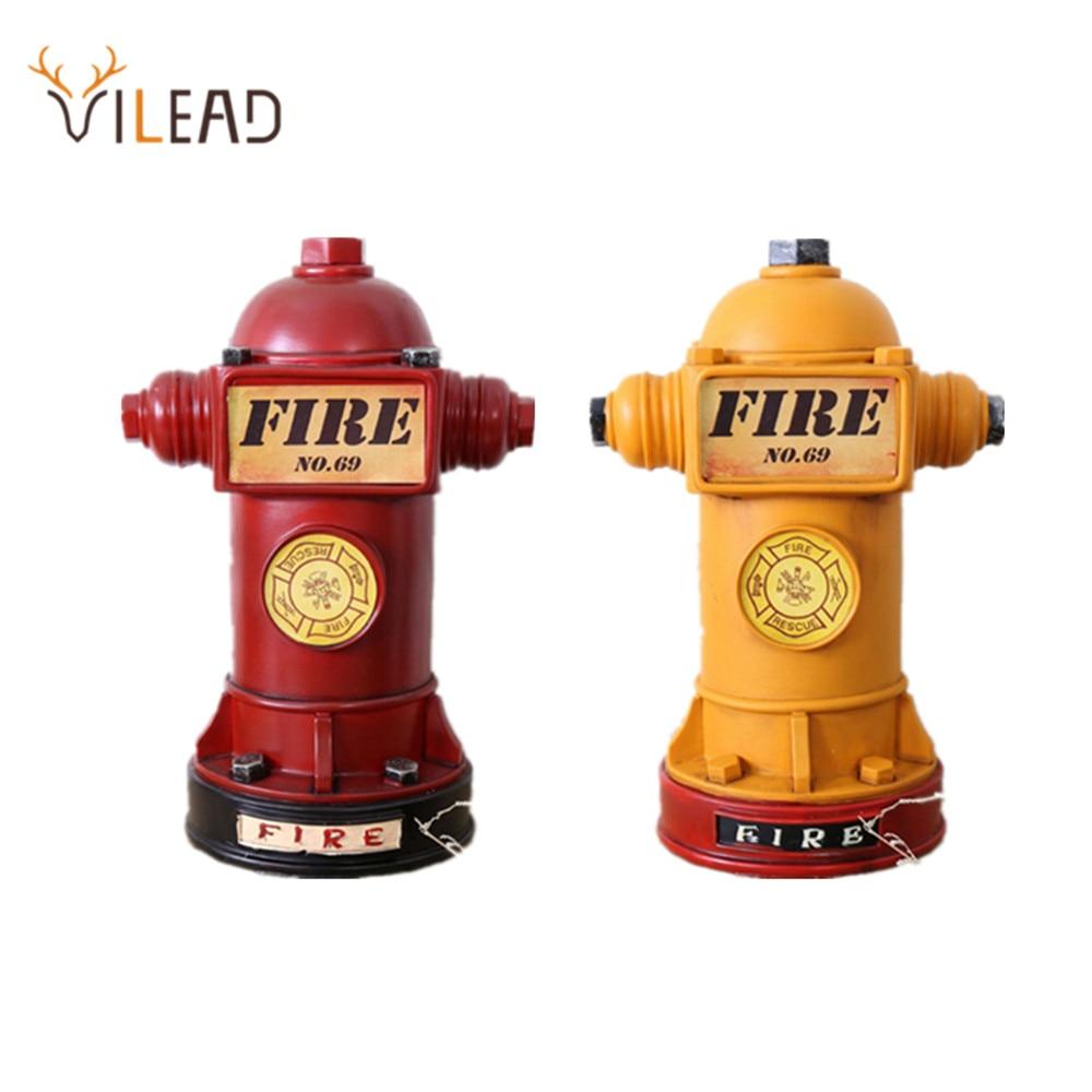 VILEAD-مجسمات طفاية حريق من الراتينج 24 سنتيمتر ، حصالة على شكل حيوان ، زخرفة عتيقة ناعمة لأعياد ميلاد الأطفال