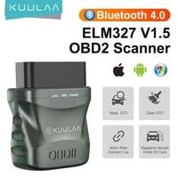 kuulaa obd2 scanner bluetooth 4 0 elm327 v1 5 obd2 scanner bt4 0 car diagnostic scanner tool for androidpcios obd code reader