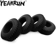 YEAHRU 1/4PCS 1.9 Inch Rubber Wheel Tire 98mm Tyre RC 110 Crawler Beadlock Wheels Tire For Tamiya Truck F350 Axial SCX10
