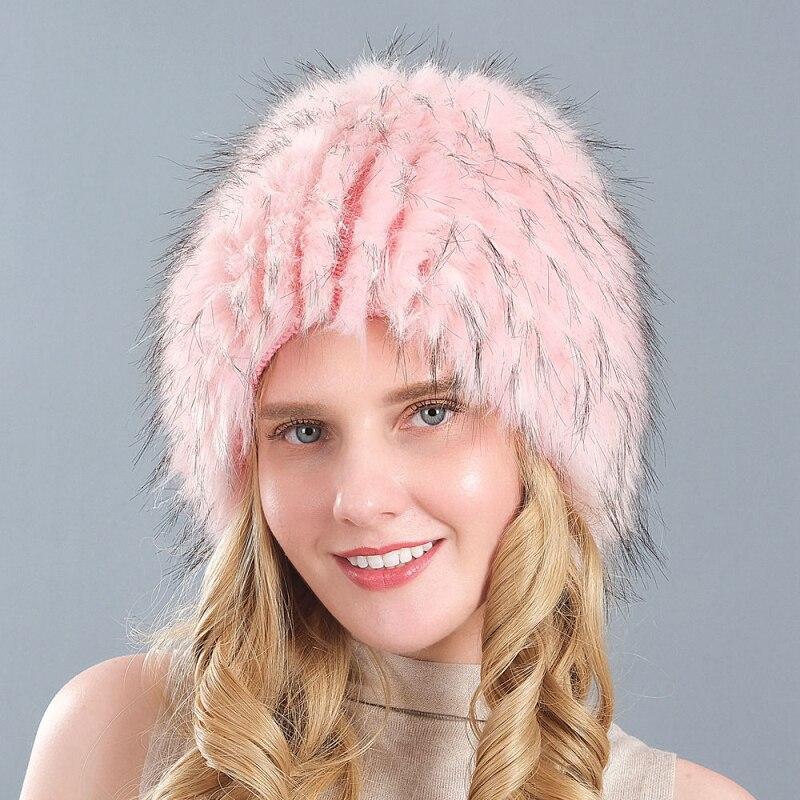 HT3279 New Women Winter Hat Thick Warm Faux Fur Ladies Ski Earflap Cap Female Beanie Skullies Beanies