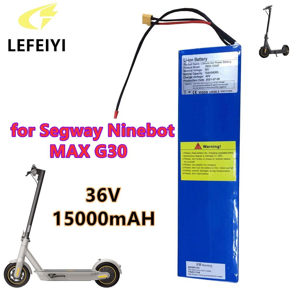 36 فولت 15000mAH 540wH 18650 بطارية ليثيوم أيون حزمة ل Segway ناينبوت ماكس G30 سكوتر كهربائي بطارية خاصة