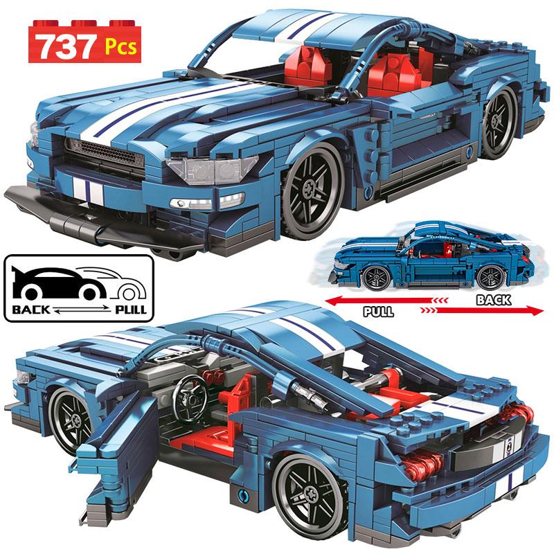 Городской механический спортивный автомобиль, строительные блоки, техническая Гоночная машина P1, функциональные кирпичи, игрушки, подарки для мальчиков