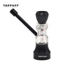 Pipa per tabacco TOPPUFF in metallo e acrilico con Design a clessidra