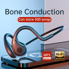 YC Bone conduction Headphone Sport Running Waterproof Bluetooth Headset MP3 Music Player Wireless Ea