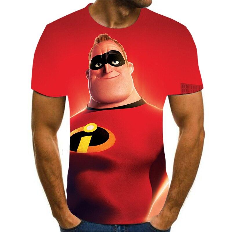 NOVEDAD DE VERANO manga corta cuello redondo Camiseta 3D de Superman agente personalidad de la moda El tamaño puede ser personalizado S-6XL