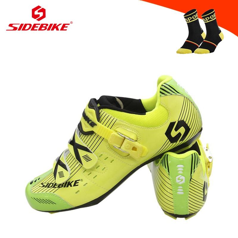 SIDEBIKE Men Cycling Shoes Road Sapatilha Ciclismo Self-locking Riding Bicycle Sneakers Wear-resistant Breathable Road Bike Shoe