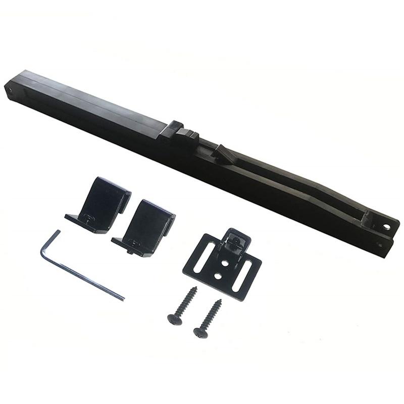 Mecanismo de Cierre Suave de puerta de Granero amortiguador Upgarded HoleFree versión herrajes para puertas corredizas de Granero Tope de puerta ajustable