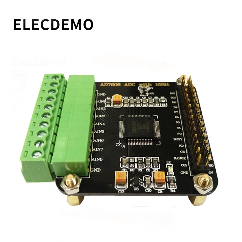 AD7606 Module Multi-channel AD Data Acquisition 16-bit ADC 8-channel Synchronization Sampling Frequency 200KHz