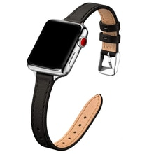 For apple watch 6 se 40mm 44mm band Slim Leather strap for iwatch series 6 5 4 3 38mm 42mm bands wom