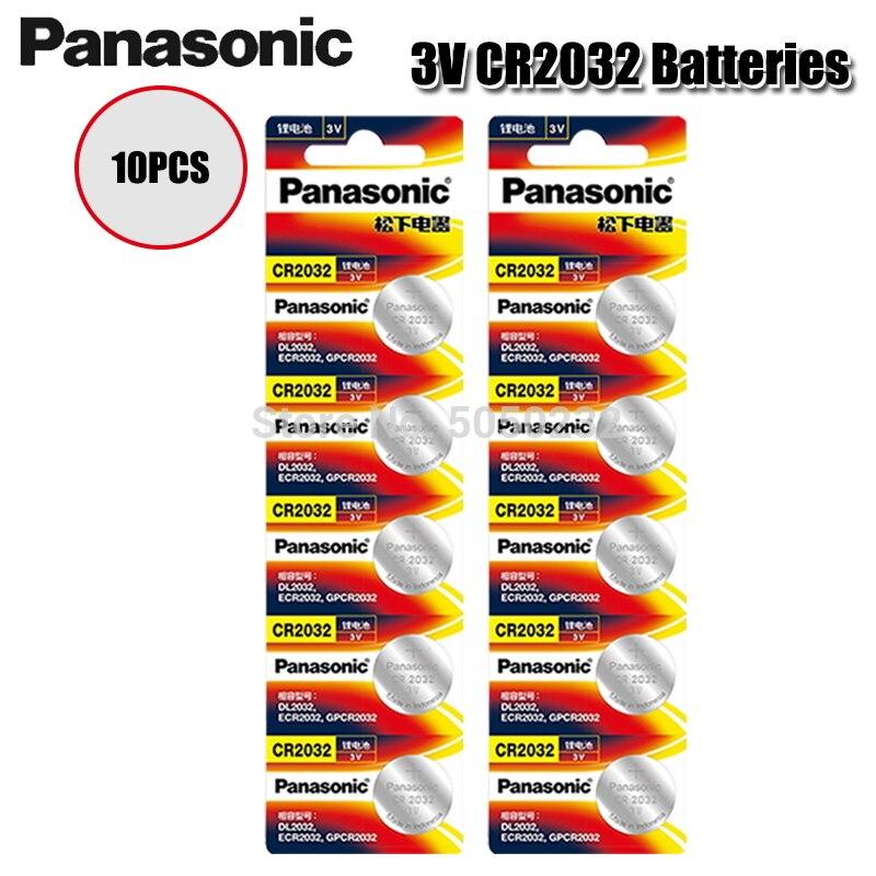 AliExpress - 10PCS/lot PANASONIC Original CR2032 Button Cell Battery 3V Lithium Batteries CR 2032 for Watch Toys Computer Calculator Control