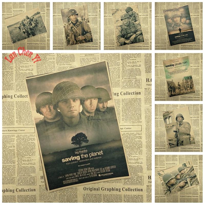 Preisgekrönten film Saving Private Ryan Kraft Papier Poster Cafe Kreative tapete Innen Dekoration