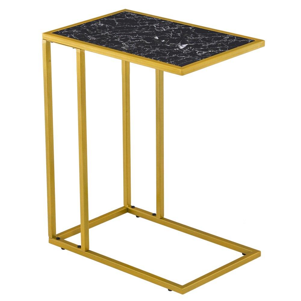 [30x48x61] См Мрамор простой c-образный приставной столик Кофе стол приставной столик черного цвета в наличии