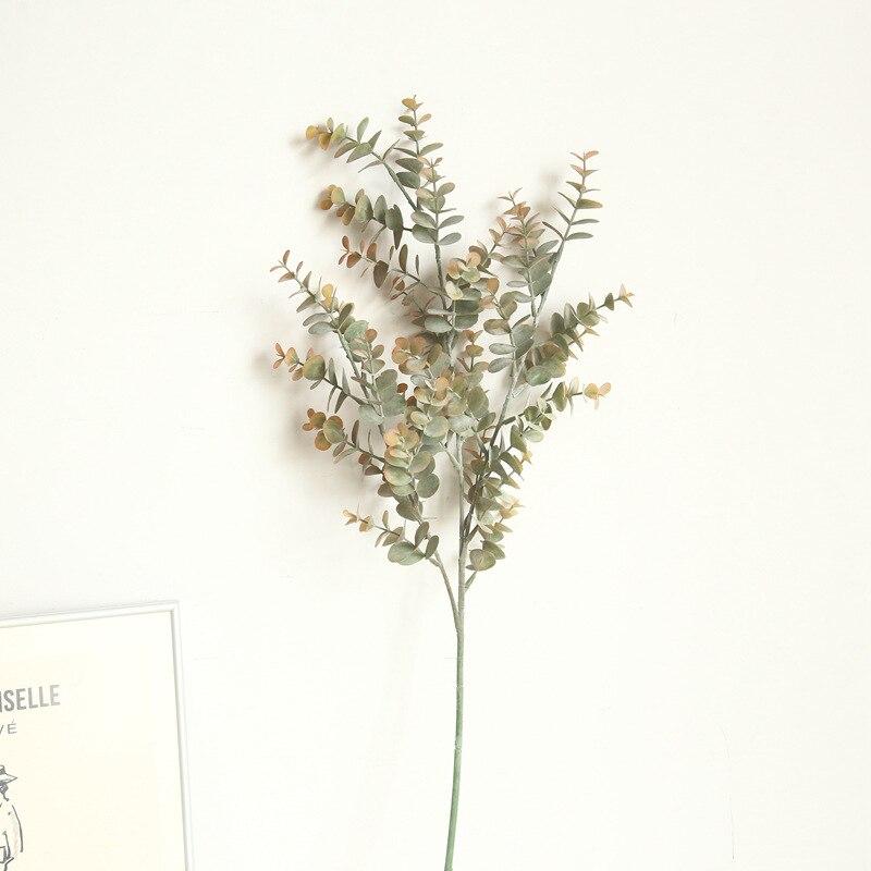 Eucalyptus argent feuille flocage fleur artificielle famille décoration mariage porte-Boquet plante artificielle fleur verdure