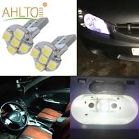 2pcs car indicator led dome reading light t10 3528 1210 5smd dc 12v canbus auto tail backup turn signal bulb license plate lamp