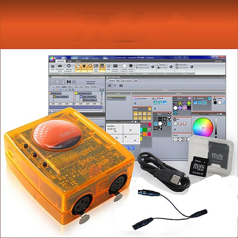 Suite2 USB DMX INTERFACE Controller USB SUITE2 FC DMX512 Disco Lighting Fog Machine Dmx Stage Light