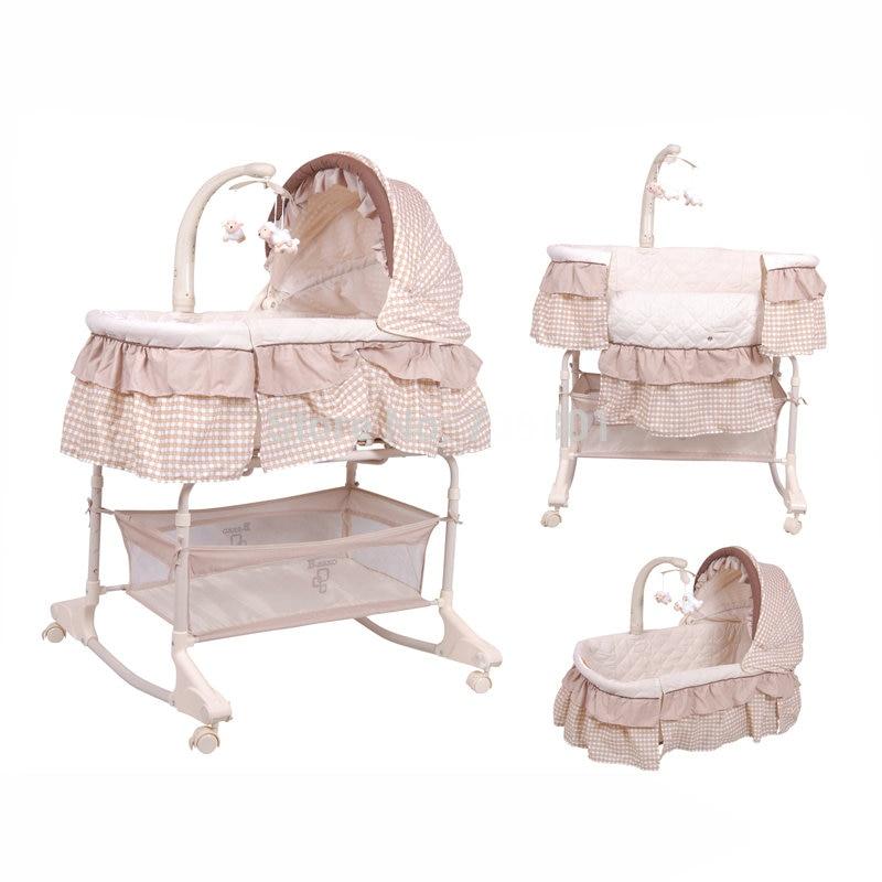 سرير أطفال 4 في 1 ، سرير أطفال بإطار بلاستيكي PP ، تم اعتماد SGS